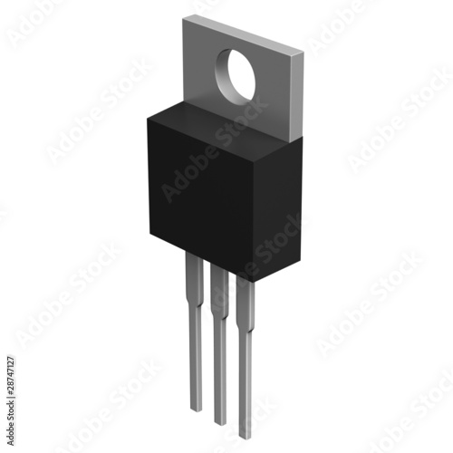 Electronic component in TO-220 package
