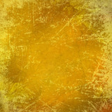 Scratched grungy yellow background