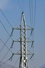A pylon of electric power transmission