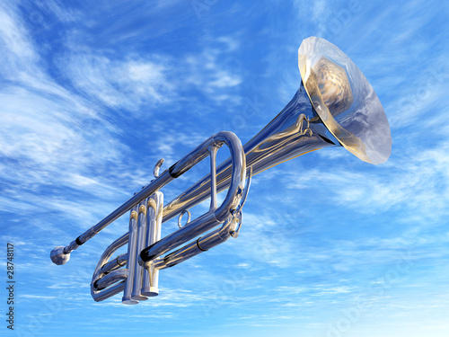 Leinwandbild Motiv Trumpet in New Orleans