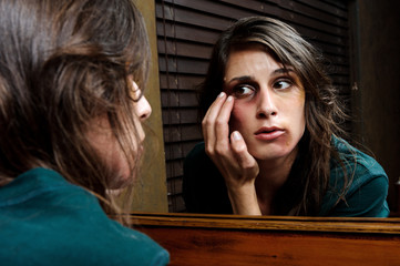 Extent of injuries; domestic abuse concept