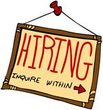Hiring Sign poster