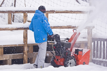Winterräumarbeit