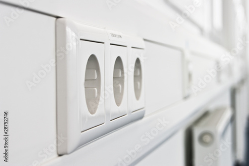 Leinwanddruck Bild Steckdosenleiste