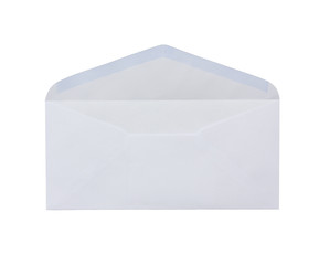 white envelope on white background