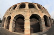 fisheye view of ancient arena of Verona, Italy
