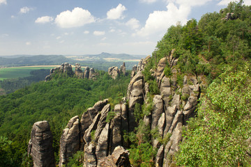 Rocks in Saxon Switzerland National Park