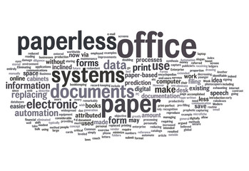 "Word Cloud ""Paperless Office"""