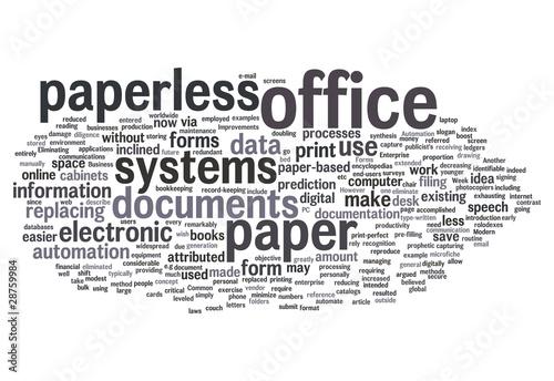 "Word Cloud ""Paperless Office"""