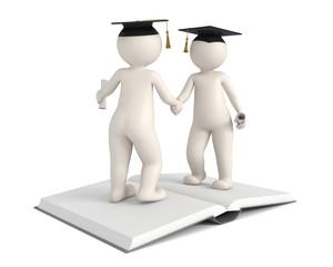 3d men - Graduation - Gratulation