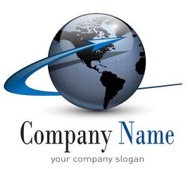 Logo globe, vector.