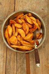 gebratene Kartoffeln in Pfanne