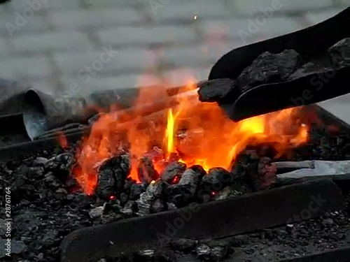 Bituminous coal burning