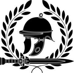 roman helmet. stencil. first variant
