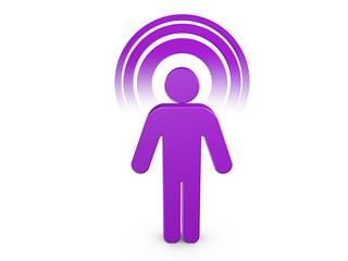 Purple Spiritual Man with visible color Aura