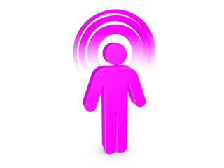Magenta Spiritual Man with visible color Aura