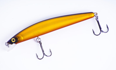 Set of plastic fishing lures