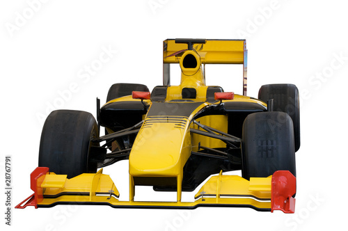 Fotobehang Formule 1 Yellow car