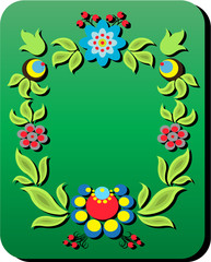 Background with a flower pattern