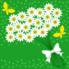 花束と背景