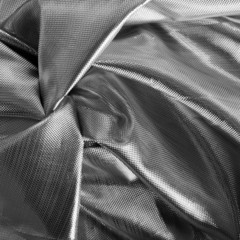 Shiny, silver metallic fabric - square crop