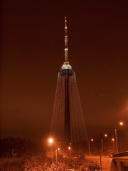 TV tower at night
