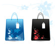 floral shopping bags