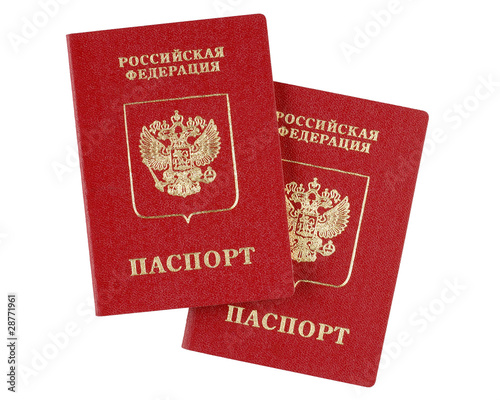 Two russian international passports