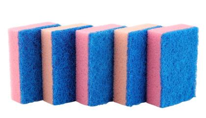 Sponges for washing dishes. Isolated on white background.