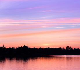 Sunrise Background Lake