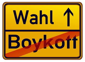 Wahl – Boykott