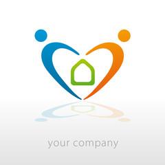 logo entreprise, habitat
