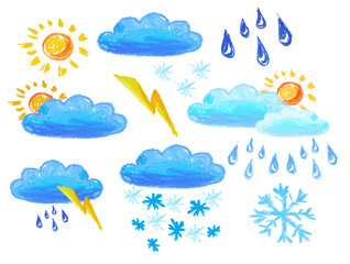 weather icons drowing