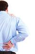 Manager mit Rückenschmerzen