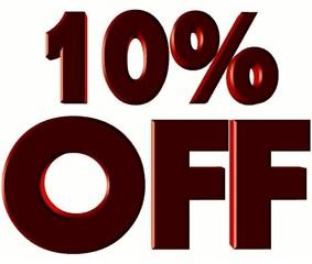 10% Off symbol