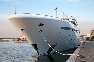 A large private motor yacht