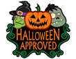 Halloween Approved Character Seal