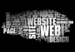 "Word Cloud ""Web Design"""