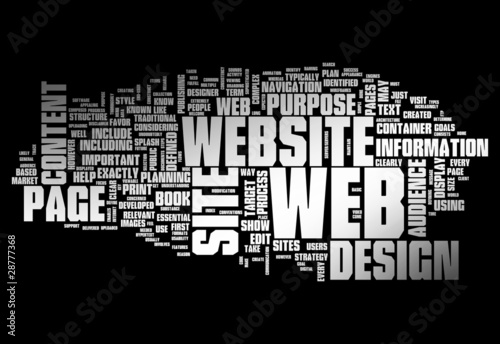 Word Design Word Cloud Web Design
