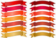 Set of simple Banners in Red, Orange and Gold