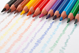 Triangular color pencils poster