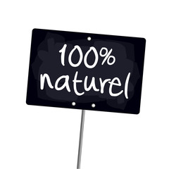 "Ardoise ""100% naturel"""