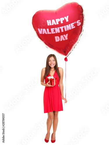Valentines day woman
