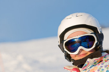 Little skier portrait