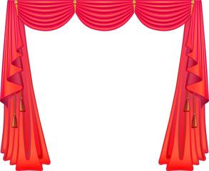 Scarlet curtains