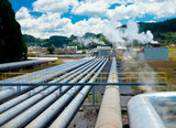 Geothermal power station poster