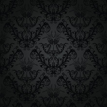 Luxury charcoal floral wallpaper