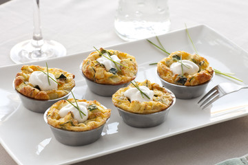 Quiche Appetizer on Table