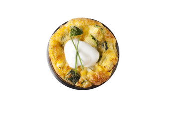 Isolated Quiche Appetizer