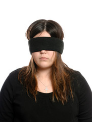 Blindfolded Teenager
